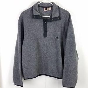 Woolrich charcoal gray fleece pullover sweater